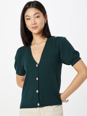 VERO MODA Knit Cardigan 'Karma' in Green