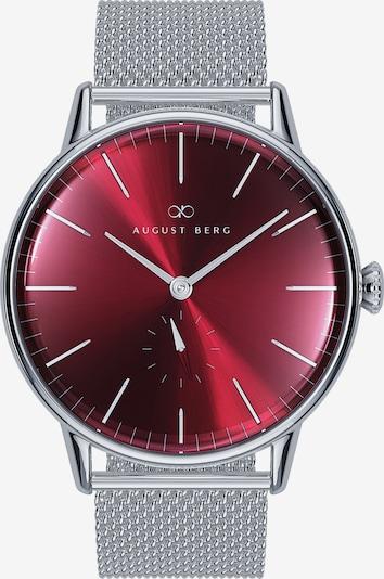 August Berg Uhr 'Serenity  40mm' in rot / bordeaux / burgunder / silber, Produktansicht