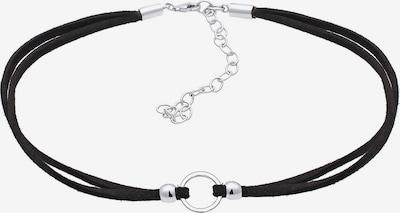 ELLI Choker 'Kreis' in schwarz / silber, Produktansicht