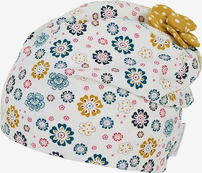 STERNTALER Шапка в пастелно синьо / горчица / розово / бяло, Преглед на продукта