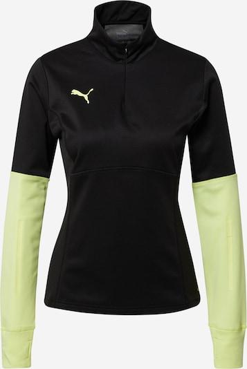 PUMA Sweat de sport en vert pastel / noir, Vue avec produit
