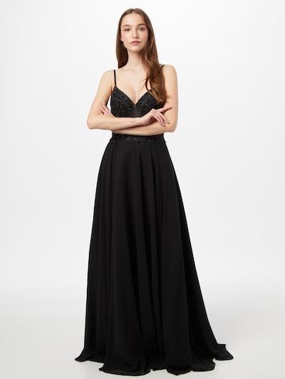Rochie de seară MAGIC NIGHTS pe negru, Vizualizare model