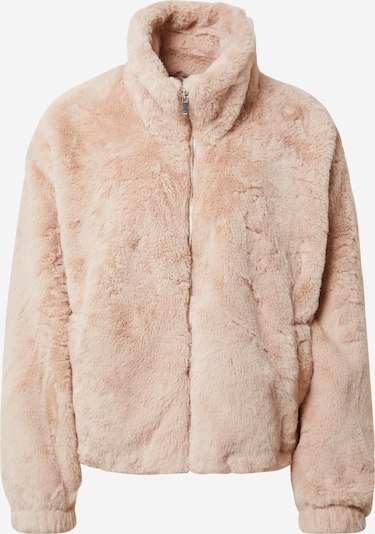 NEW LOOK Jacke 'THEO FUNNEL NECK FUR' in pink, Produktansicht