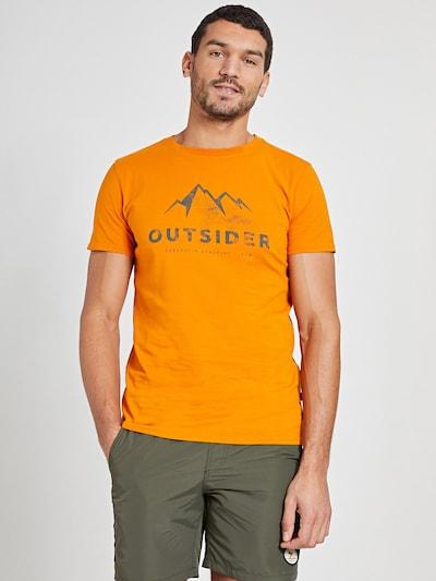 Shiwi Тениска 'Outsider' в оранжево / черно: Изглед отпред