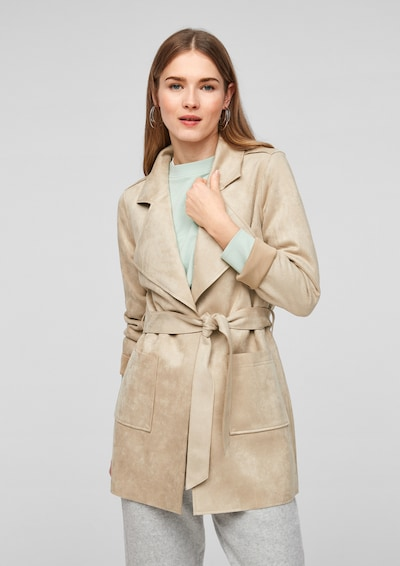 Q/S by s.Oliver Between-Seasons Coat in Light beige, View model