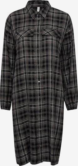 PULZ Jeans Hemdblusenkleid 'PZSOPHIA' in dunkelgrau / weiß, Produktansicht