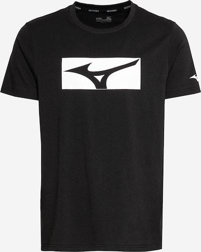 MIZUNO Functioneel shirt in de kleur Zwart / Wit, Productweergave