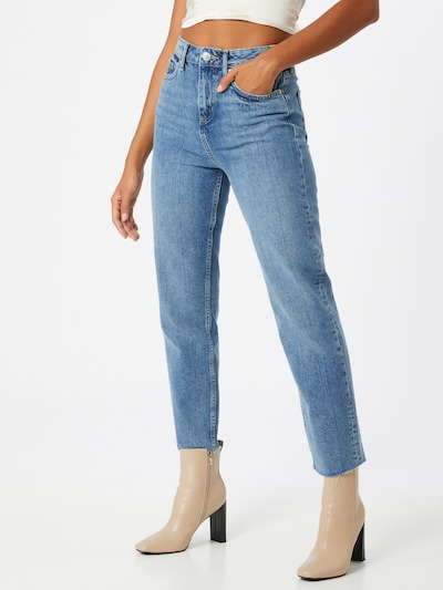 Miss Selfridge Jeans in de kleur Blauw denim, Modelweergave