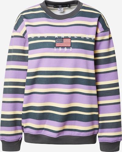 Daisy Street Sweatshirt in hellgelb / grau / flieder / rot / weiß, Produktansicht