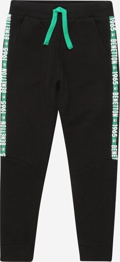 UNITED COLORS OF BENETTON Hose in hellgrün / schwarz / weiß, Produktansicht