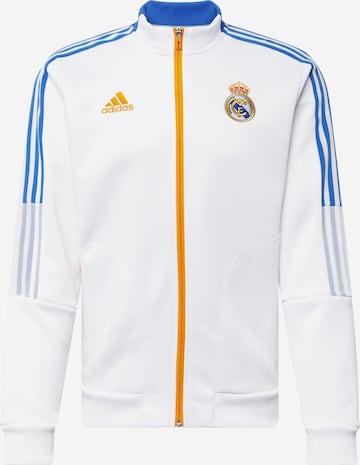 ADIDAS PERFORMANCE Sportjacke 'Real Anthem' in Weiß
