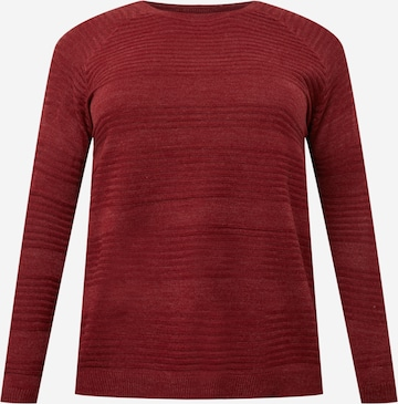 Pull-over 'Airplain' ONLY Carmakoma en rouge
