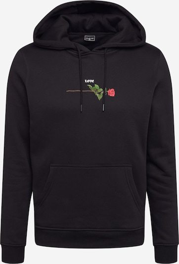 Mister Tee Sweatshirt i gräsgrön / grenadine / svart / vit, Produktvy