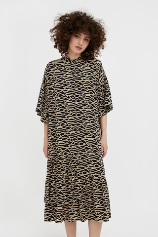Finn Flare Summer Dress in Brown