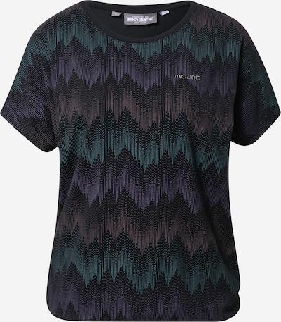 Maglietta 'Celina' mazine di colore beige / verde / lilla scuro / nero: Vista frontale