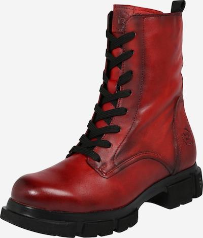 bugatti Schnürstiefelette in rot, Produktansicht