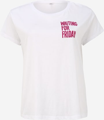 Maglietta 'Waiting For Friday' di Mister Tee Curvy in bianco