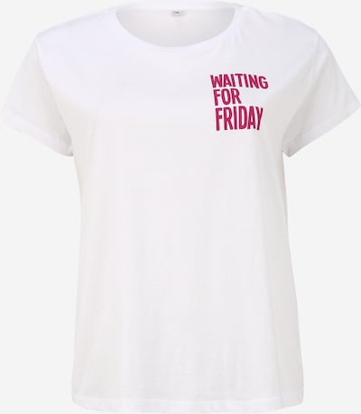 Mister Tee Curvy Shirt 'Waiting For Friday' in de kleur Pink / Wit, Productweergave
