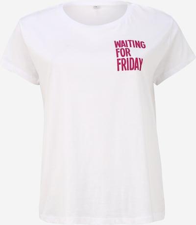 Maglietta 'Waiting For Friday' Mister Tee Curvy di colore rosa / bianco, Visualizzazione prodotti