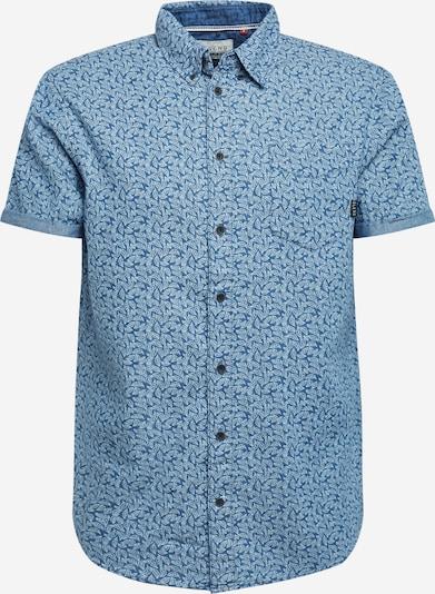 BLEND Koszula w kolorze niebieski / białym, Podgląd produktu