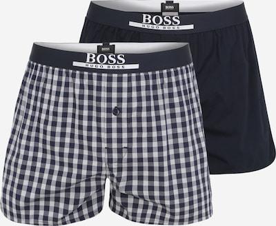 BOSS Casual Boxershorts in dunkelblau / weiß, Produktansicht