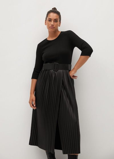 VIOLETA by Mango Kleid 'Julie' in schwarz, Modelansicht