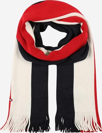 TOMMY HILFIGER Schal in navy / nachtblau / rot / weiß, Produktansicht