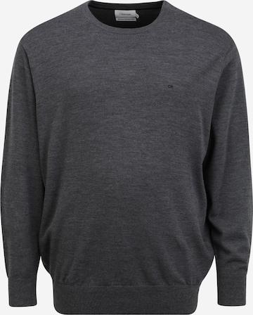 Calvin Klein Big & Tall Pullover in Grau