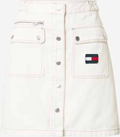 Fustă Tommy Jeans pe alb, Vizualizare produs