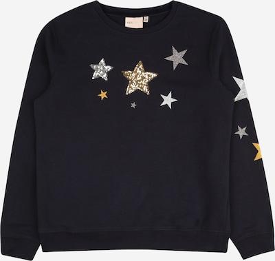 KIDS ONLY Sweatshirt 'SILJE' in nachtblau / goldgelb / silbergrau, Produktansicht