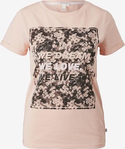Q/S by s.Oliver Shirt in braun / orange / weiß, Produktansicht