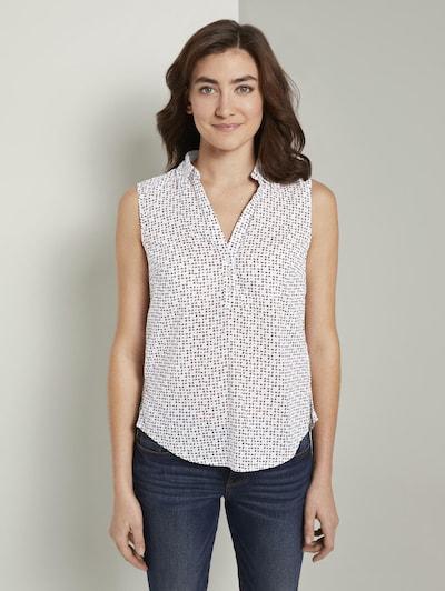 TOM TAILOR Bluse in beige / grau / koralle / weiß, Modelansicht