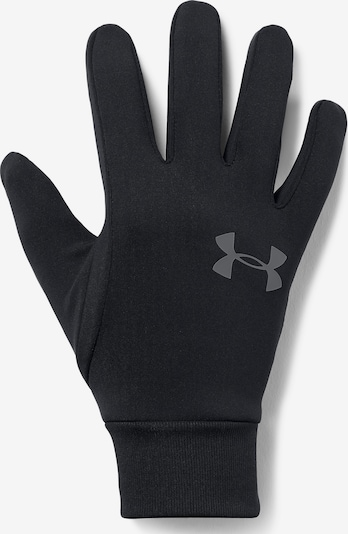 UNDER ARMOUR Sporthandschoenen 'Liner 2.0' in de kleur Donkergrijs / Zwart: Vooraanzicht