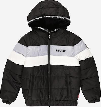 LEVI'S Jacke in hellgrau / schwarz / weiß, Produktansicht