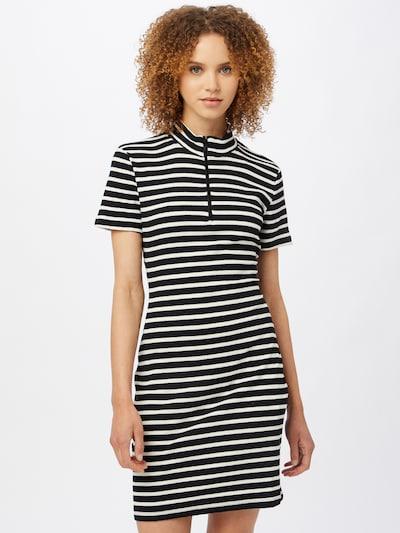Trendyol Pletena haljina u crna / bijela, Prikaz modela