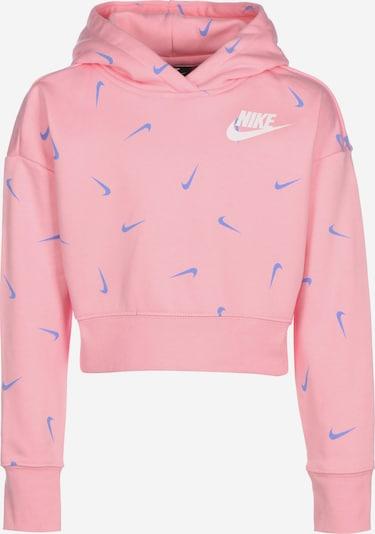 NIKE Sweatshirt 'G Nsw Crop' in blau / pastellpink / weiß, Produktansicht