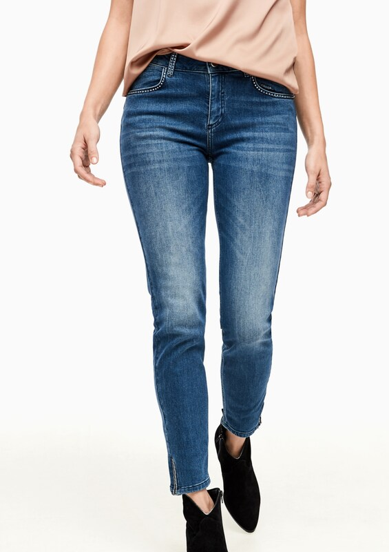 COMMA Jeans in blue denim: Frontalansicht