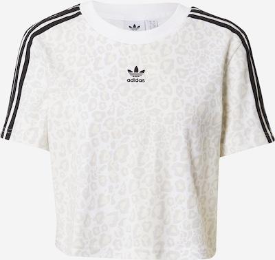 ADIDAS ORIGINALS T-Shirt in hellbraun / hellgrau / schwarz / weiß, Produktansicht