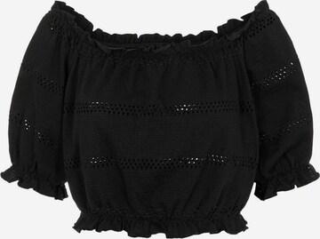 PIECES Shirt in Zwart