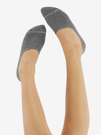 CHEERIO* Socken 'INVISIBLE FELLOW' in grau: Rückansicht