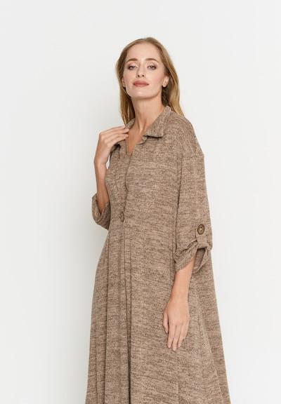 Madam-T Kleid 'Gilberta' in beige, Modelansicht
