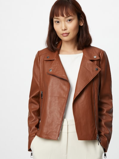 BOSS Prehodna jakna 'Sajuana' | rjava barva, Prikaz modela