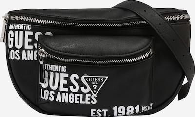 GUESS Чанта за кръста 'MANHATTAN' в черно / бяло, Преглед на продукта