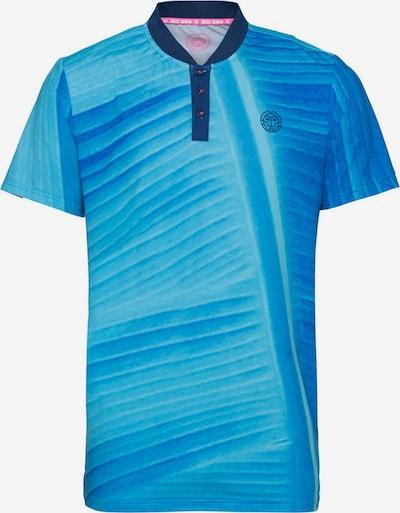 BIDI BADU T-Shirt Kesar mit klassischer Knopfleiste in blau, Produktansicht
