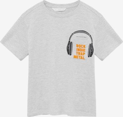 MANGO KIDS T-Shirt 'Rock' en gris chiné / orange / noir, Vue avec produit