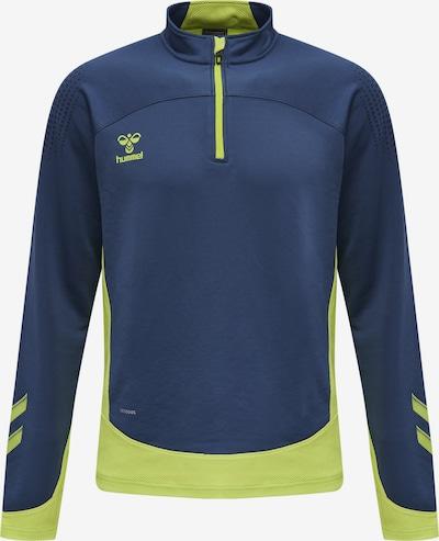 Hummel Sportsweatshirt in de kleur Donkerblauw / Lichtgroen, Productweergave