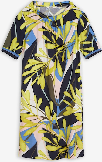 Sandwich Kleid in blau / gelb / oliv / pastellpink / schwarz, Produktansicht