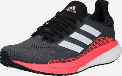 ADIDAS PERFORMANCE Skriešanas apavi tumši pelēks / gaiši sarkans / Sudrabs, Preces skats