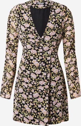 Fashion Union Kleid 'LEWIS' in khaki / rosa / schwarz, Produktansicht