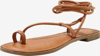INUOVO Sandale in braun: Frontalansicht